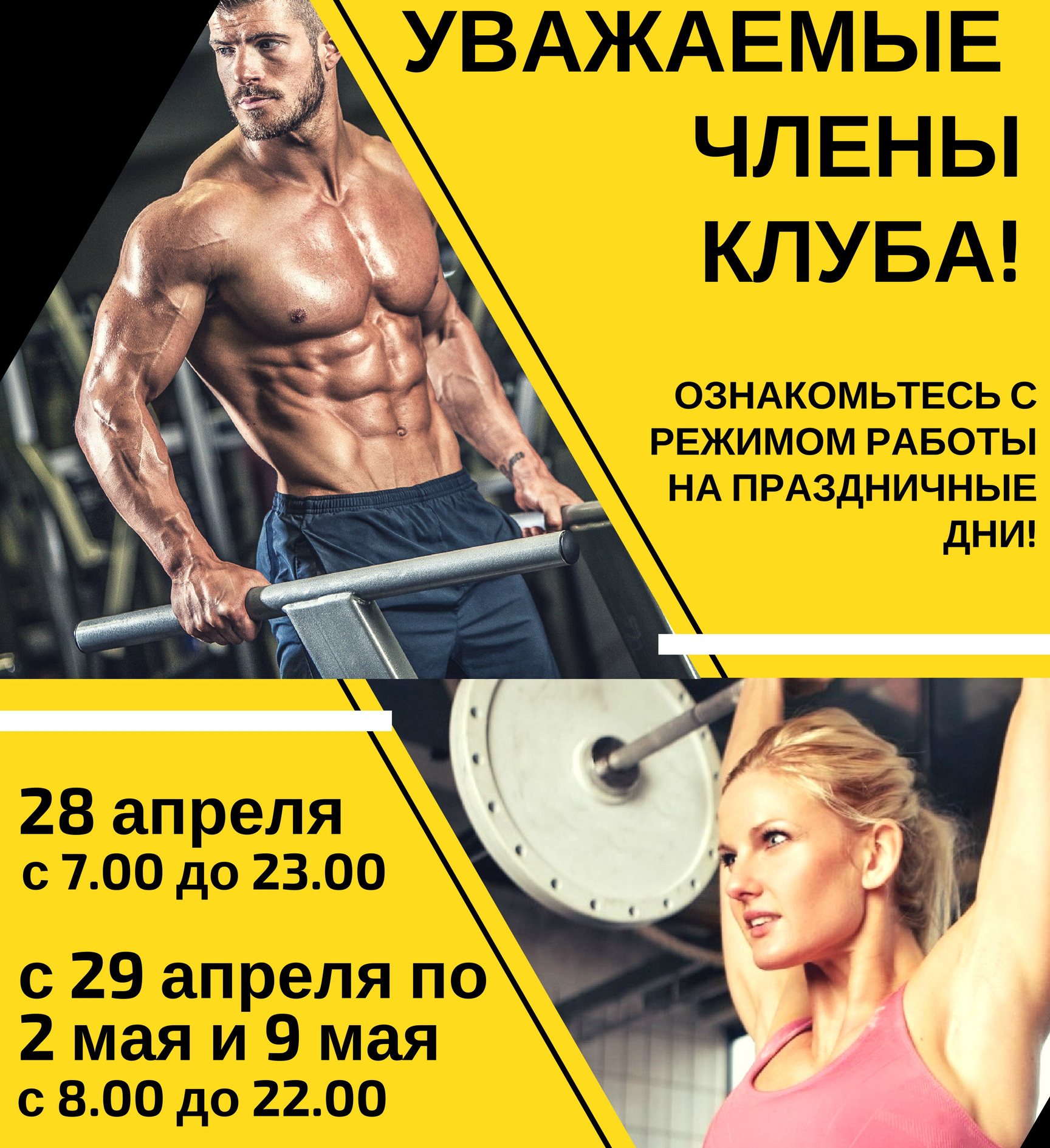 Yellow Cross Elite Gym Poster (1)1 - academic-fitness ru
